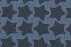Beschichtete Baumwolle rauchblau/dunkelblau 2