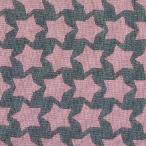 Beschichtete Baumwolle dunkelgrau/rosa 2
