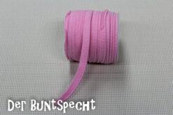 Elastisches Paspelband -Jersey rosa