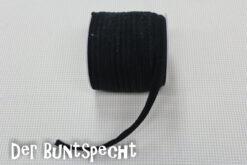 Elastisches Paspelband -Jersey schwarz