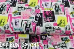Baumwolljersey Barbie, Barbie, pink, Foto, schwarz, Mädchen, weiß,
