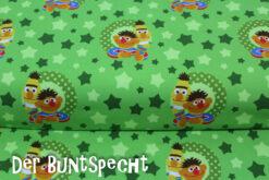 Ernie und Bert, grün, Punkte, Sterne, Stars,