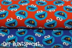 Monster, Krümel, Kekse, blau, rot.,