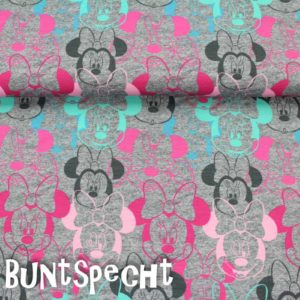 Jersey Minnie Mouse Big Face grau