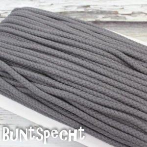 5mm Baumwollkordel gedreht dunkelgrau