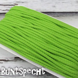5mm Baumwollkordel gedreht kiwi