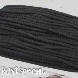 5mm Baumwollkordel gedreht schwarz