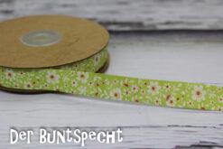 Baumwollband -Flowers- kiwi