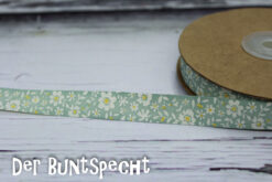 Baumwollband -Flowers- opal