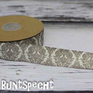 Baumwollband -Ornaments- braun