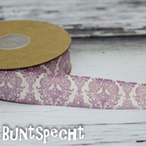 Baumwollband -Ornaments- flieder