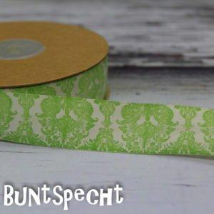 Baumwollband -Ornaments- kiwi