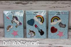 Patches Bügelbilder 4er Set Rainbow Unicorns