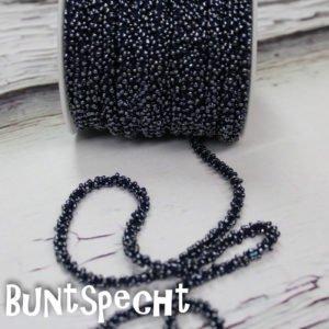 Perlenband dunkelblau