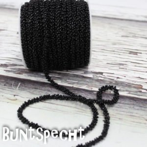 Perlenband schwarz