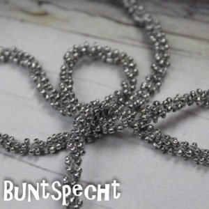 Perlenband silber-2