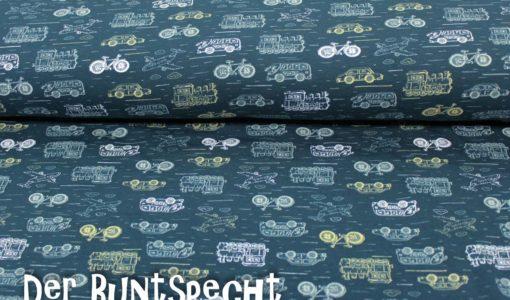 Sweat Stoff -Fahrzeuge- dunkelpetrol-