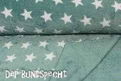 Flanell Fleece Sternchen grün