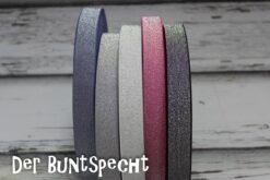 Glitzer-Gummiband -Silver