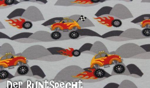 Jersey Stoff -Monster Trucks