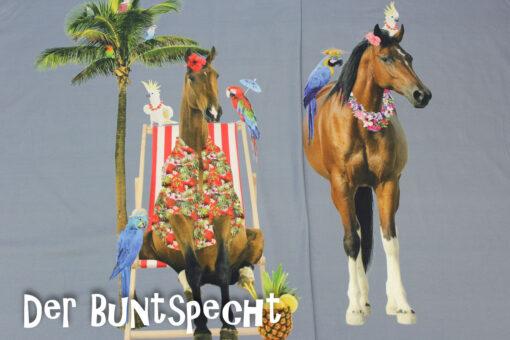 Paneel Jersey - Honululu Horse 2