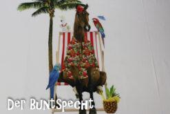 Paneel Jersey - Honululu Horse weiß Liegestuhl