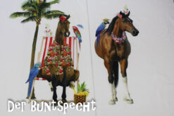 Paneel Jersey - Honululu Horse weiß2