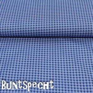 BW Stoff -Kimba BLUMEN- blau