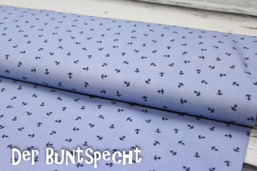 BW Stoff -Little Anchors- himmelblau