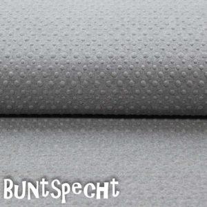 Sweatshirtstoff geprägt grau