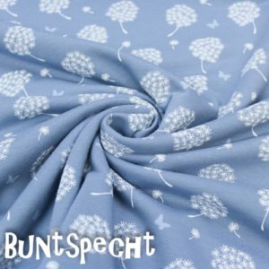 Sweat -Pusteblume + Schmetterling- blau-2