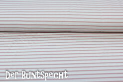 Feinripp-Viskose -Streifen 4mm- altrosa