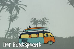 Paneel Jersey -Surfer Bear and bus 4