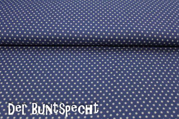 Jeansstoff -Little Stars- dunkelblau