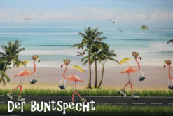 Bordüren-Jersey-Flamingos-on-the-beach