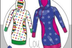Schnittmuster Kibadoo Kinder Long Hoodie Lou 74 bis 164