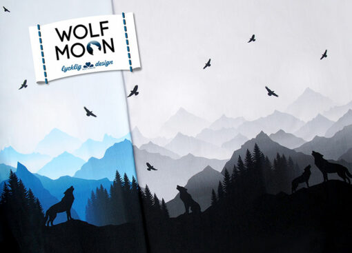 Sweatshirtstoff Wolf Moon by Lycklig Design