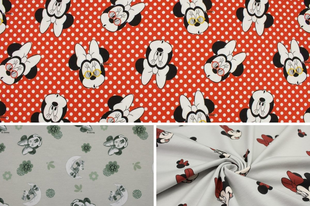 Baumwolljersey Minnie Mouse - Der-Buntspecht-Shop
