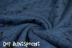 Steppsweat in blau mit schwarzen Klecksen drauf