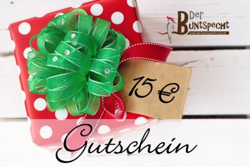 Geschenkgutschein über 15 Euro