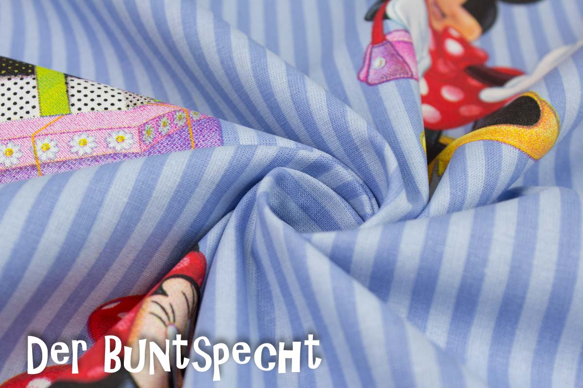 Lizenz Baumwollstoff Minnie Maus Der Buntspecht Shop
