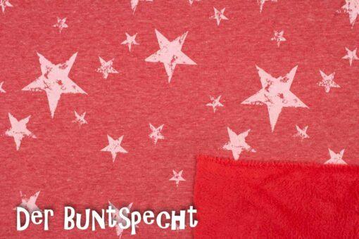 Alpenfleece Gedruckte Sterne rot