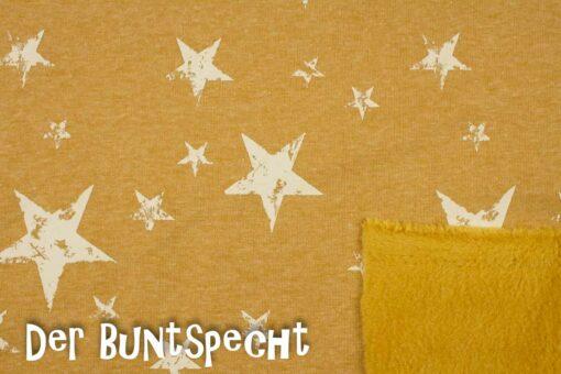 Alpenfleece Gedruckte Sterne senf