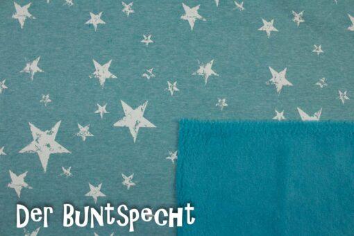 Alpenfleece Gedruckte Sterne türkis