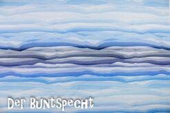 Jersey Wavy Stripes blau