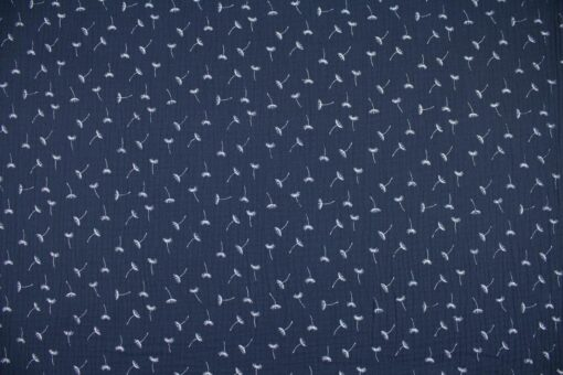 Gauze Kleine Pusteblumen dunkelblau
