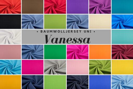 Baumwolljersey Uni Vanessa