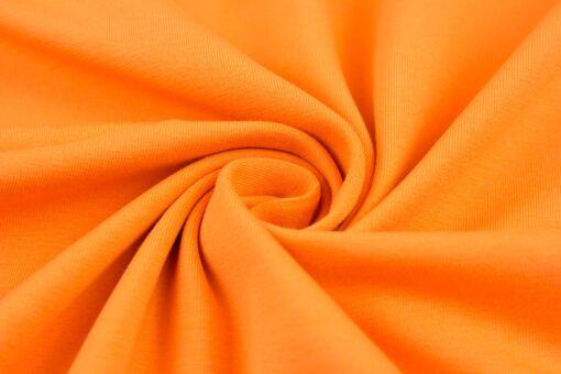 Baumwolljersey Uni Vanessa orange 424
