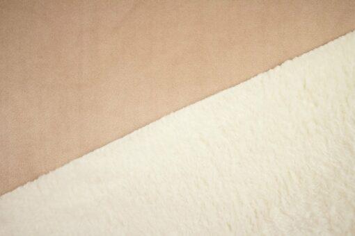 Doubleface-Stoff mit Fleece- und Plüschseite