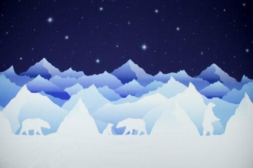 Sweatstoff für Kinder 'Wild Shadows Eisbären'